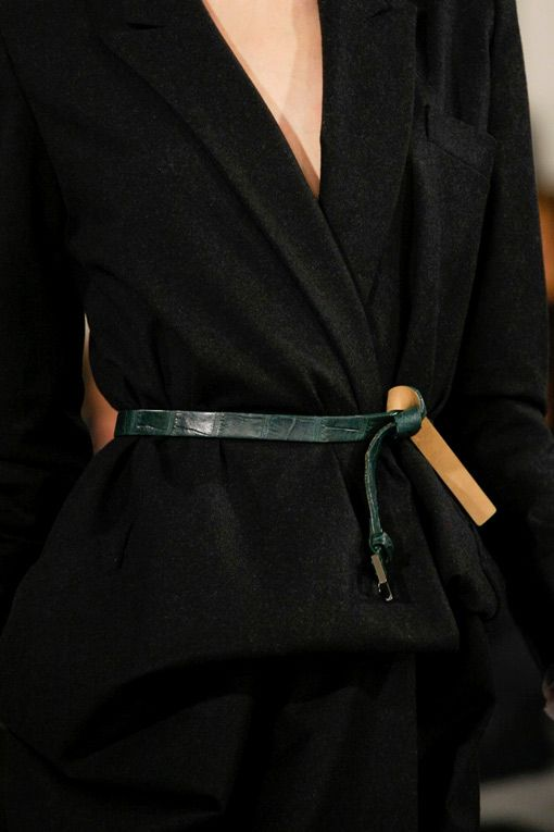 Black Coat Dress Fashion Trend for Fall Winter 2013 I Oscar De La Renta  #fall2013 #fashion #trend #black #coat #trends