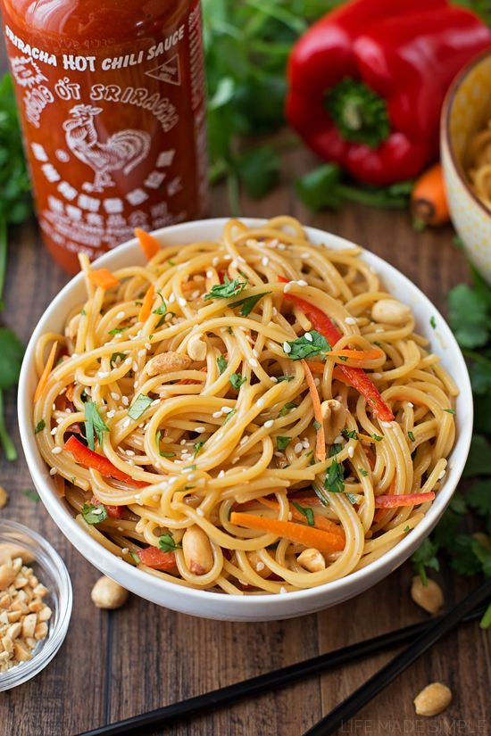 20 Minute Spicy Thai Noodle Bowls Recipe Favorite Lil