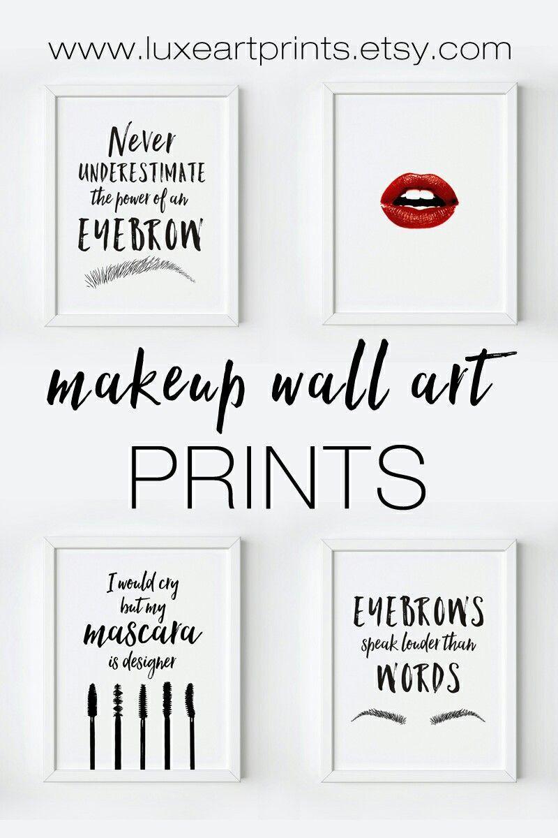 Makeup Wall Art Printables Https Www Etsy Com Shop