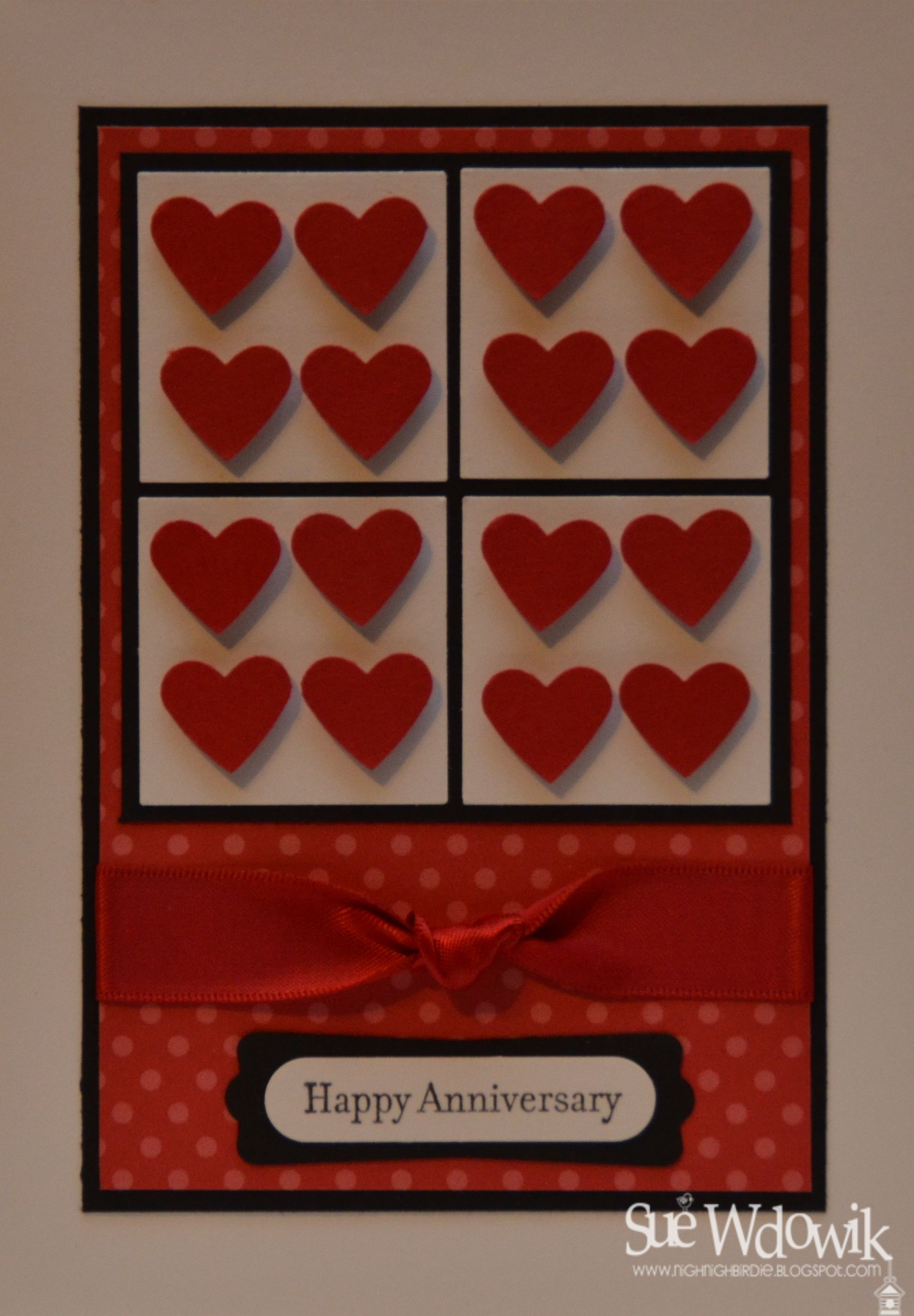 Happy Anniversary Card Handmade By Sue Wdowik Independent Stampin