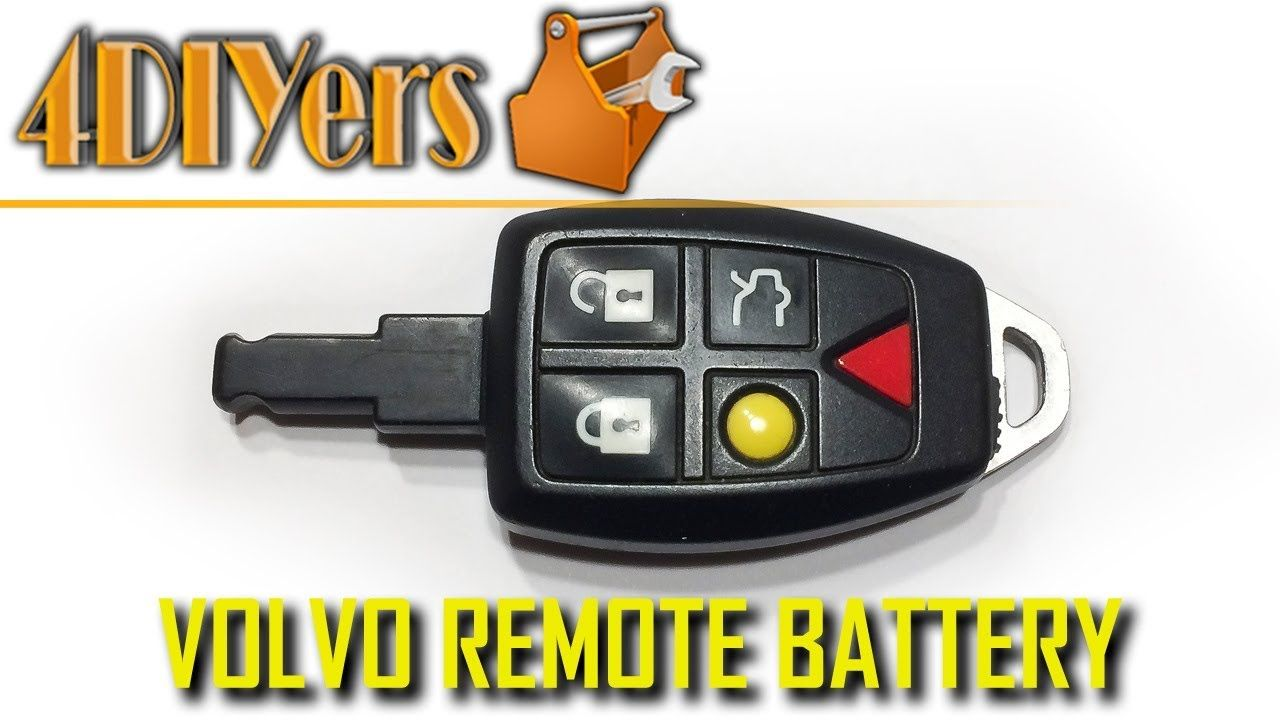 Diy Volvo Key Fob Battery Replacement And Disassembly Volvo Key Fob Fobs