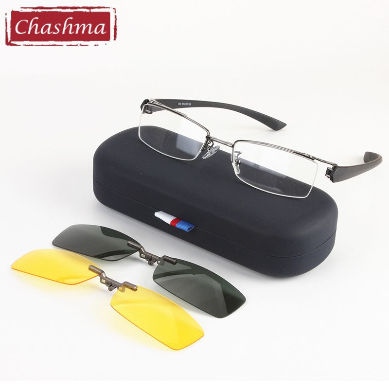 9ec3da5141 Chashma Men Fishing and Driving Qualtiy Optical Mopia Glasses Frame Clip  Fishing Polarized Sunglasses man fashion