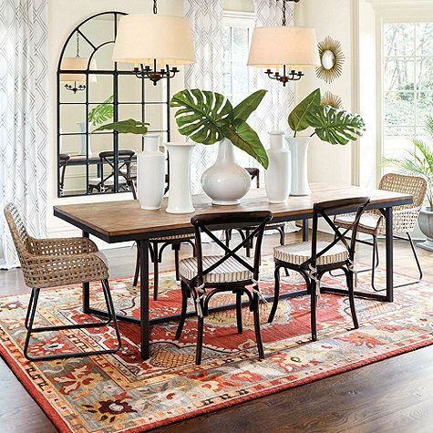 Atticus Dining Table Ballard Design Dining Table Dining Chairs Dining Room Decor