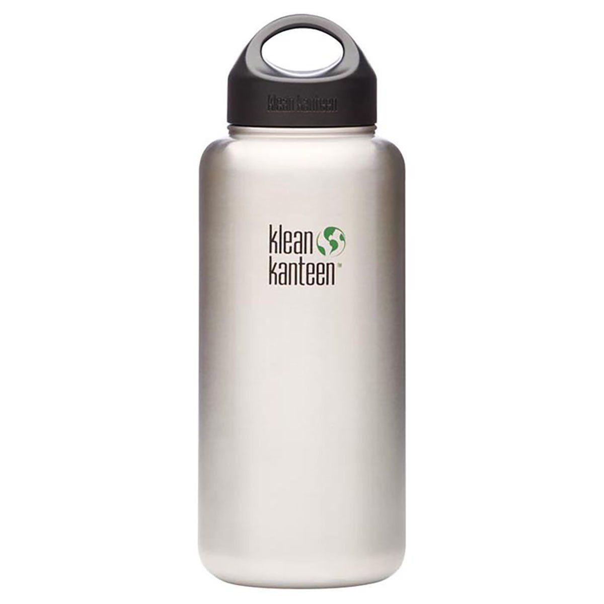Klean Kanteen Wide Single Wall Bottle with Loop Cap Brushed Stainless