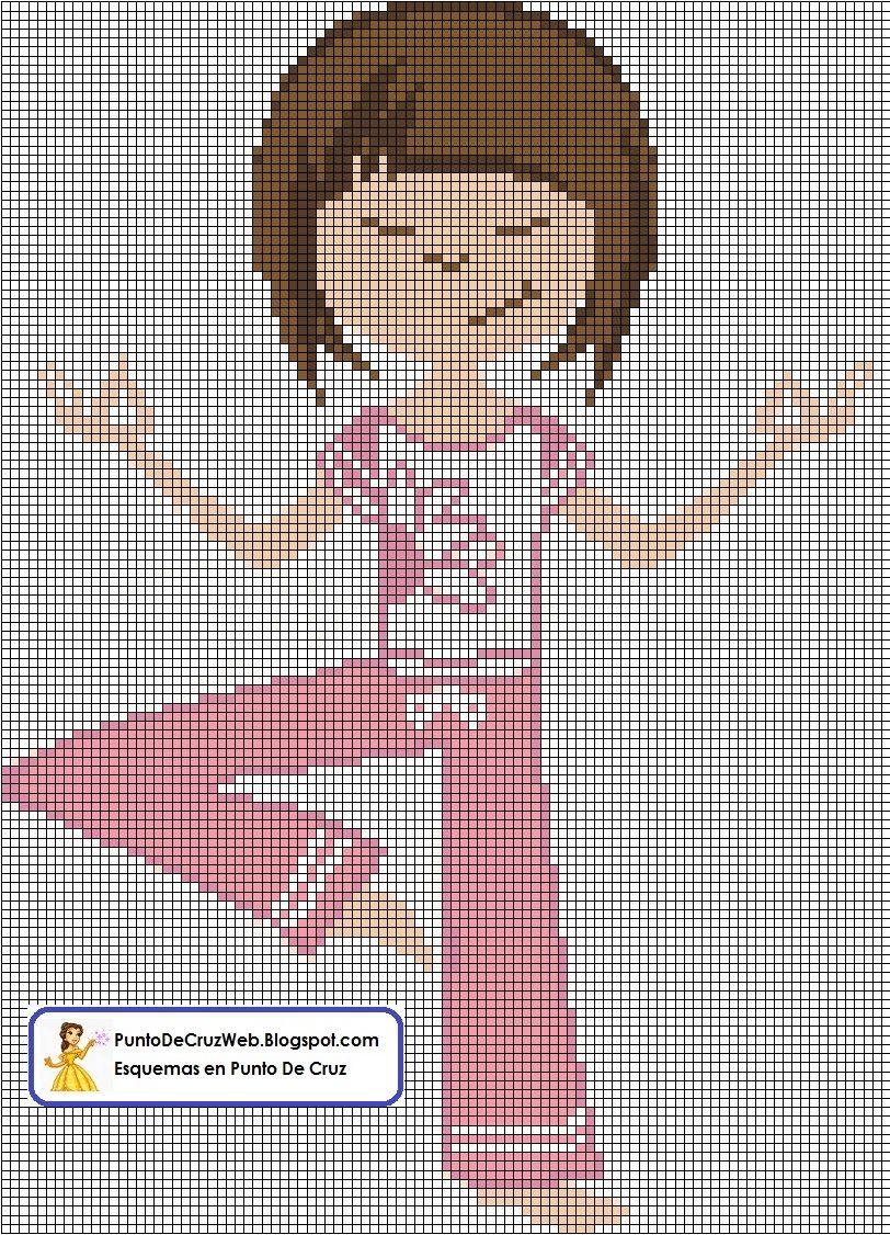 Chica Yoga en Punto de Cruz www.puntodecruzweb.blogspot.com   PUNTO ...