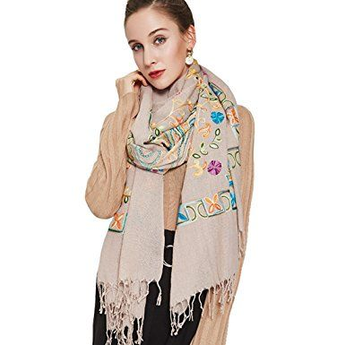 1e166af7353e8 DANA XU Embroidery Wool Large Size Winter Women Pashmina Shawls and Wraps  Review