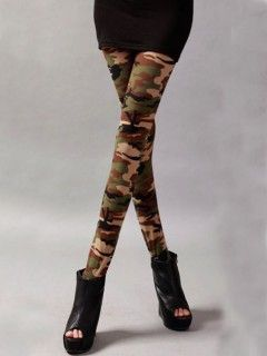 Shop Green Camouflage Legging from choies.com .Free shipping Worldwide.$9.9