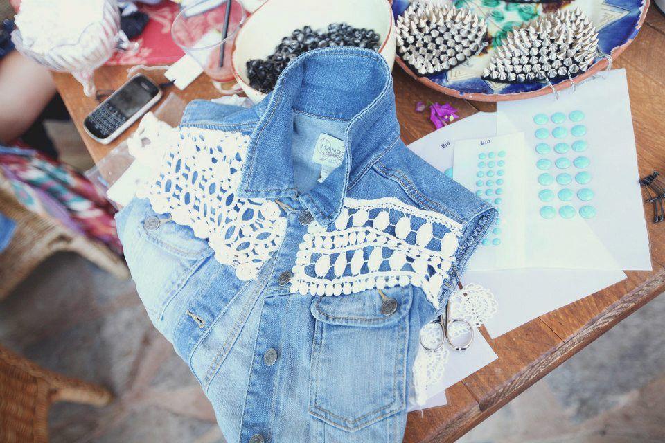 Para personalizar tu chaleco o campera de jeans. pinned with Pinvolve