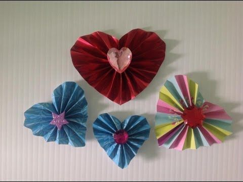Corazones De Papel En Forma De Acordeon Accordion Hearts