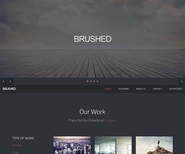 brushed is free one page responsive html template it is optimized