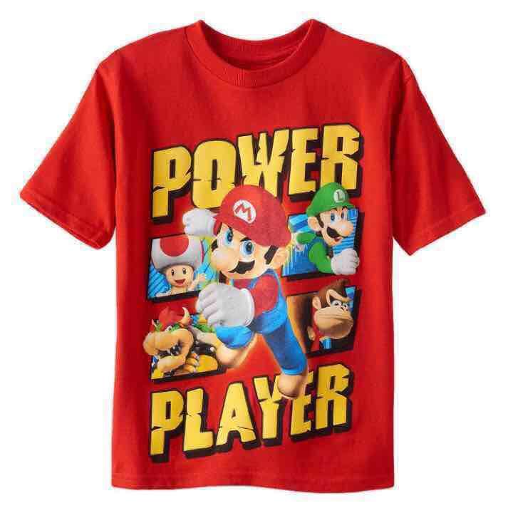 Super Mario Boys T-S… ($14) is on sale on Mercari, check it out! https://item.mercari.com/gl/m507078412/