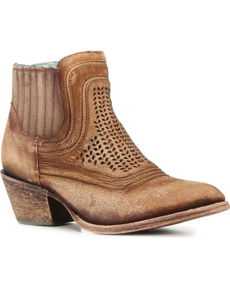 a515de1849ae Corral Women s Laser Etched Booties - Round Toe in 2019