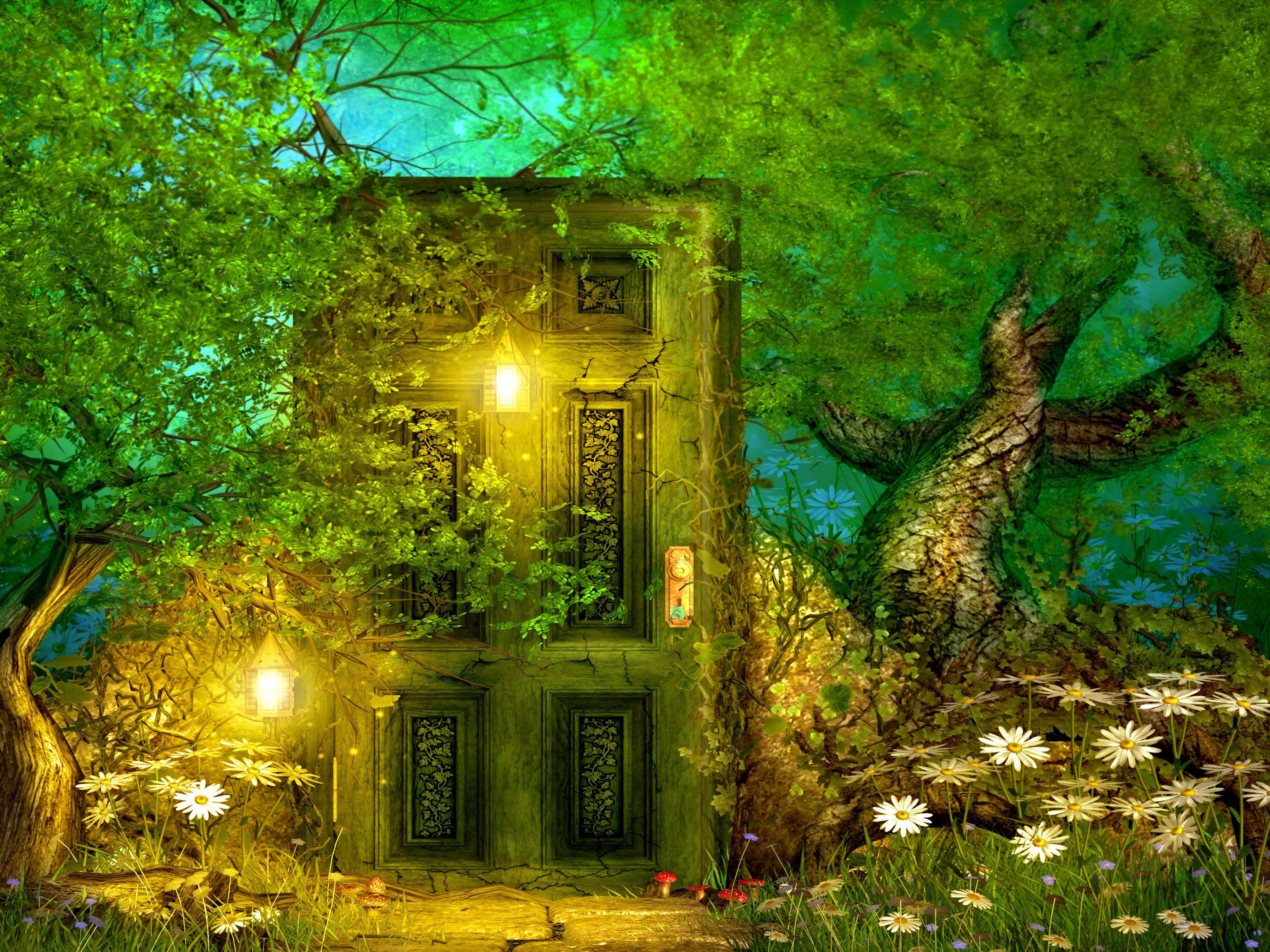 Fairytale Door Wallpaper Background For Photography Studio Backdrops Photography Backdrops