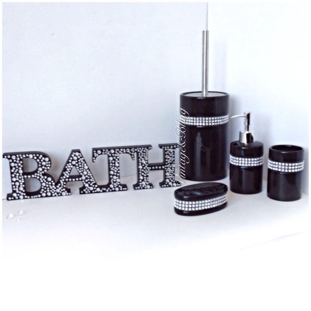 Next Black Sparkle Bathroom Accessories Bathroom Accessories