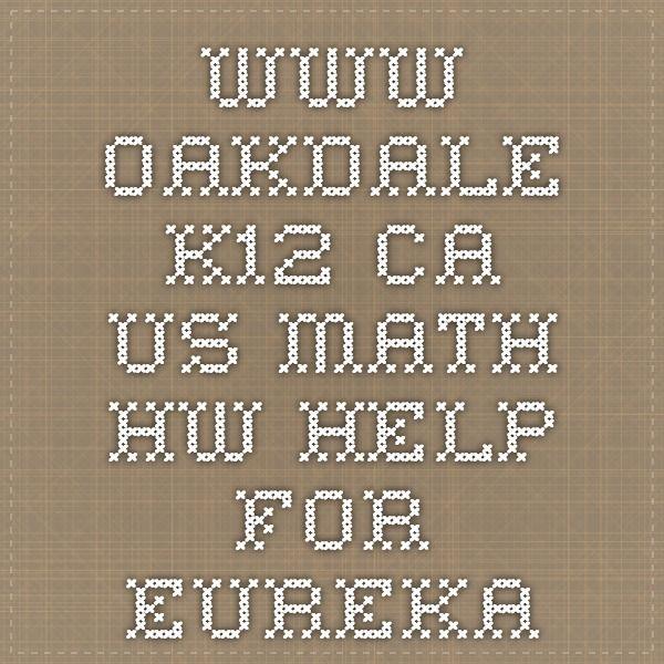oakdale k12 homework help