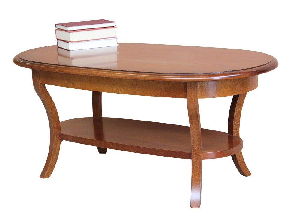 Classic oval coffee table to furnish the living room with elegance