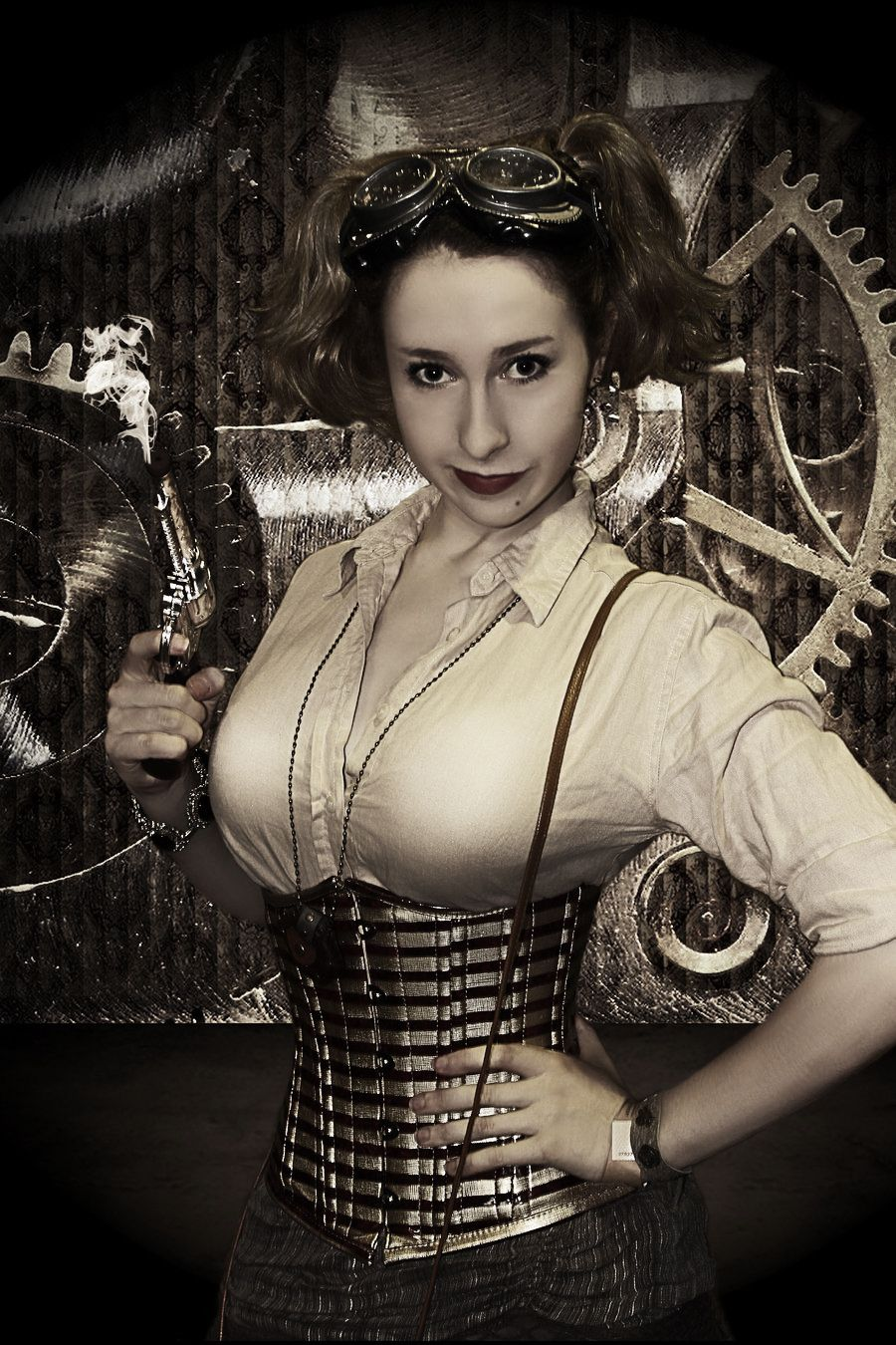 y steam punk Steampunk girls dress up play fun sensual