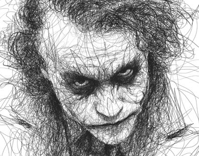 Joker Scribble Drawing : Drawing in pencil scribbles keith richards by vince low works