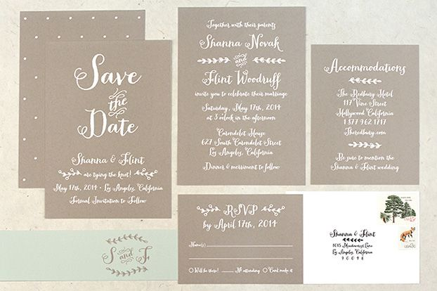 Bridal Shower invitations on PVC plastic t type cards