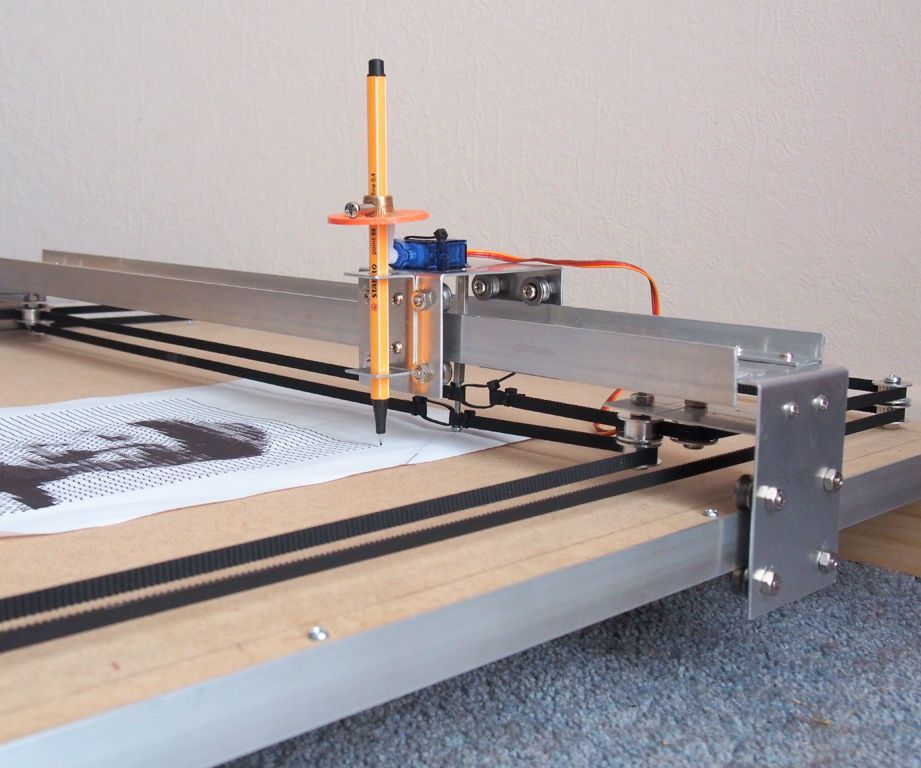 Corexy cnc plotter particle board cnc and homemade cnc for Low cost stepper motor