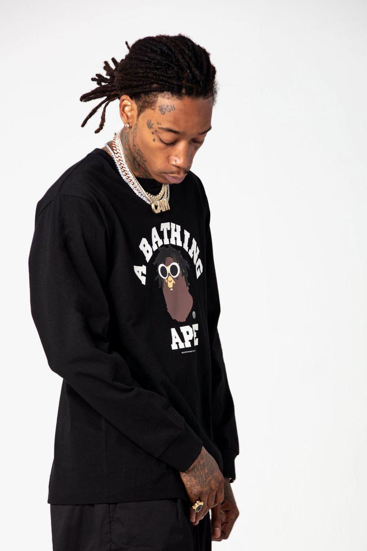 Bape Taps Wiz Khalifa For Latest Bape Heads Inspired Capsule The Wiz Wiz Khalifa Rapper Style