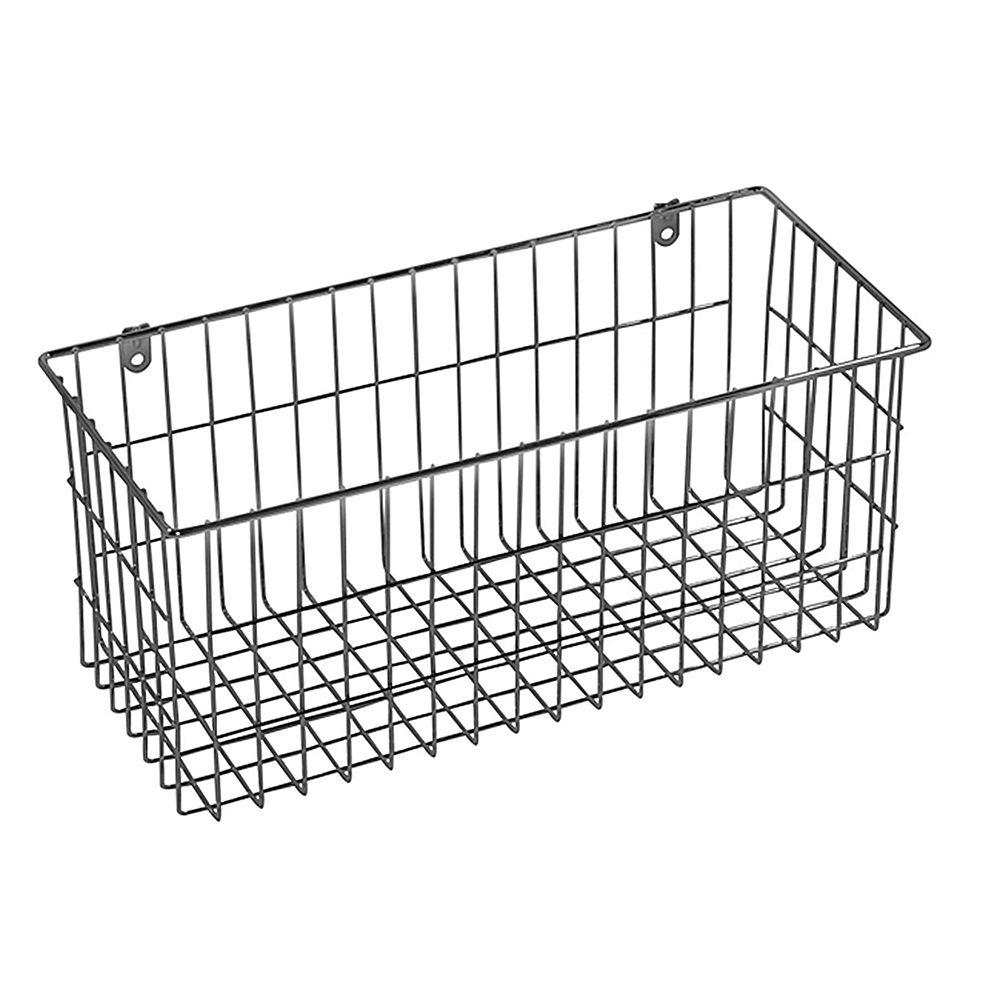 Ltl Home Products 13 5 In X 6 In More Inside Large 4 Sided Wall Mount Wire Basket Ws W319323c Wall Mounted Wire Baskets Large Wire Basket Wire Baskets