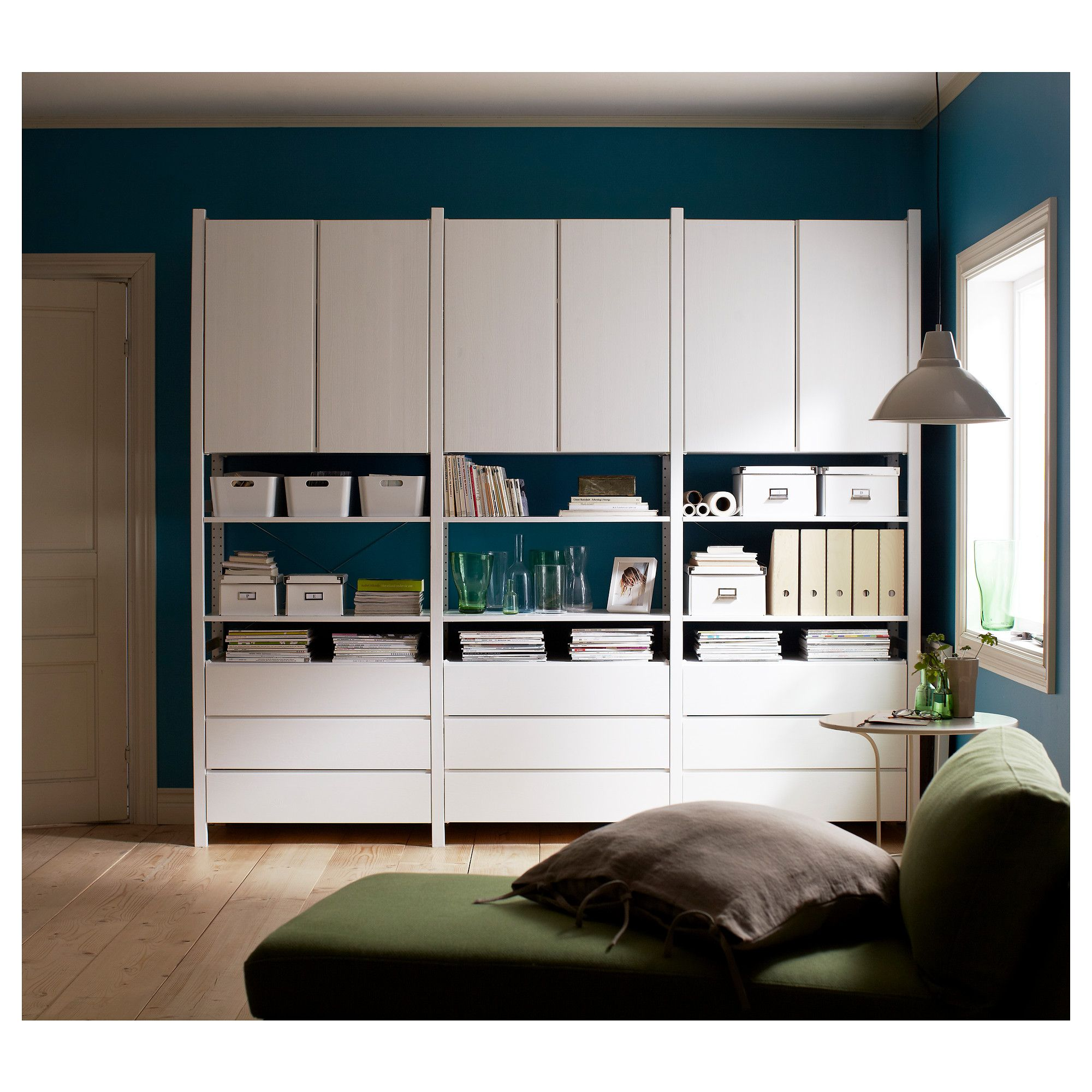 Ikea Ivar Cabinets And Drawers Painted White And Arranged Into A Stylish Storage  Unit. | Wohnen | Pinterest | Drawers, Storage And Ikea Hack