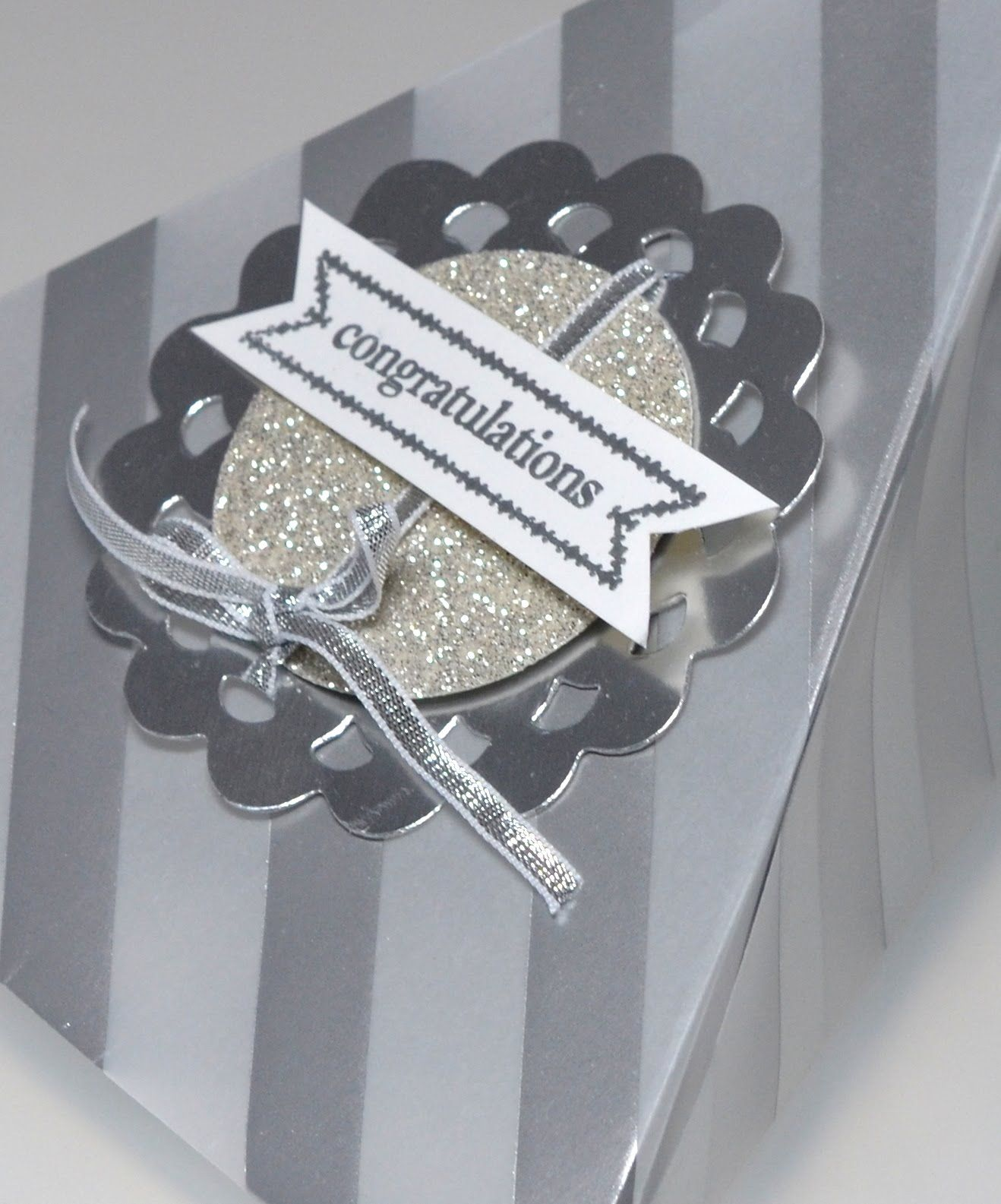 Silver Wedding Cake Box Stampin Up Australia Cake Slice Boxes