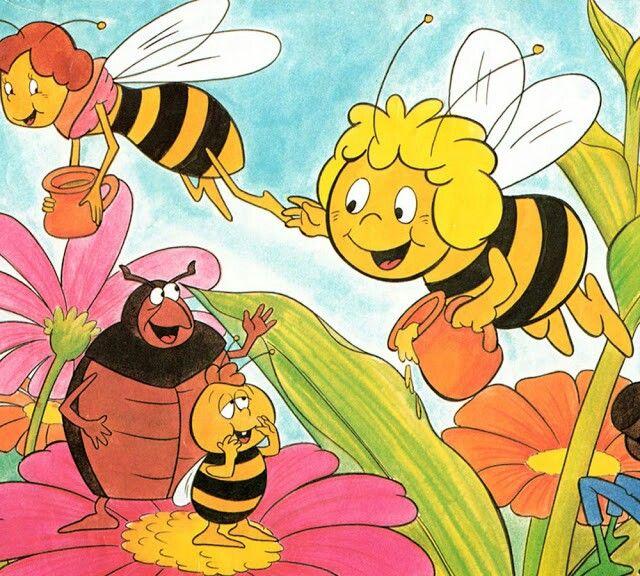 Abeja Maya  animados  Pinterest  Abeja Recuerdos y Infancia