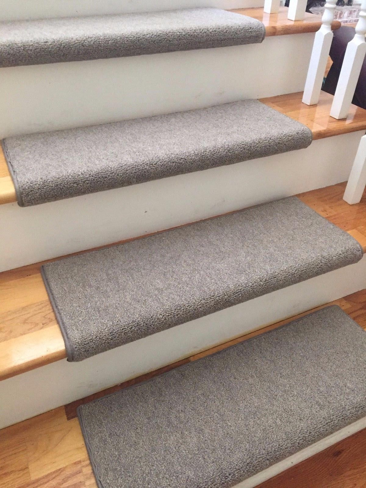 Richmond Granite New Zealand Wool! TRUE Bullnose™ Carpet Stair Tread Runner  Replacement For