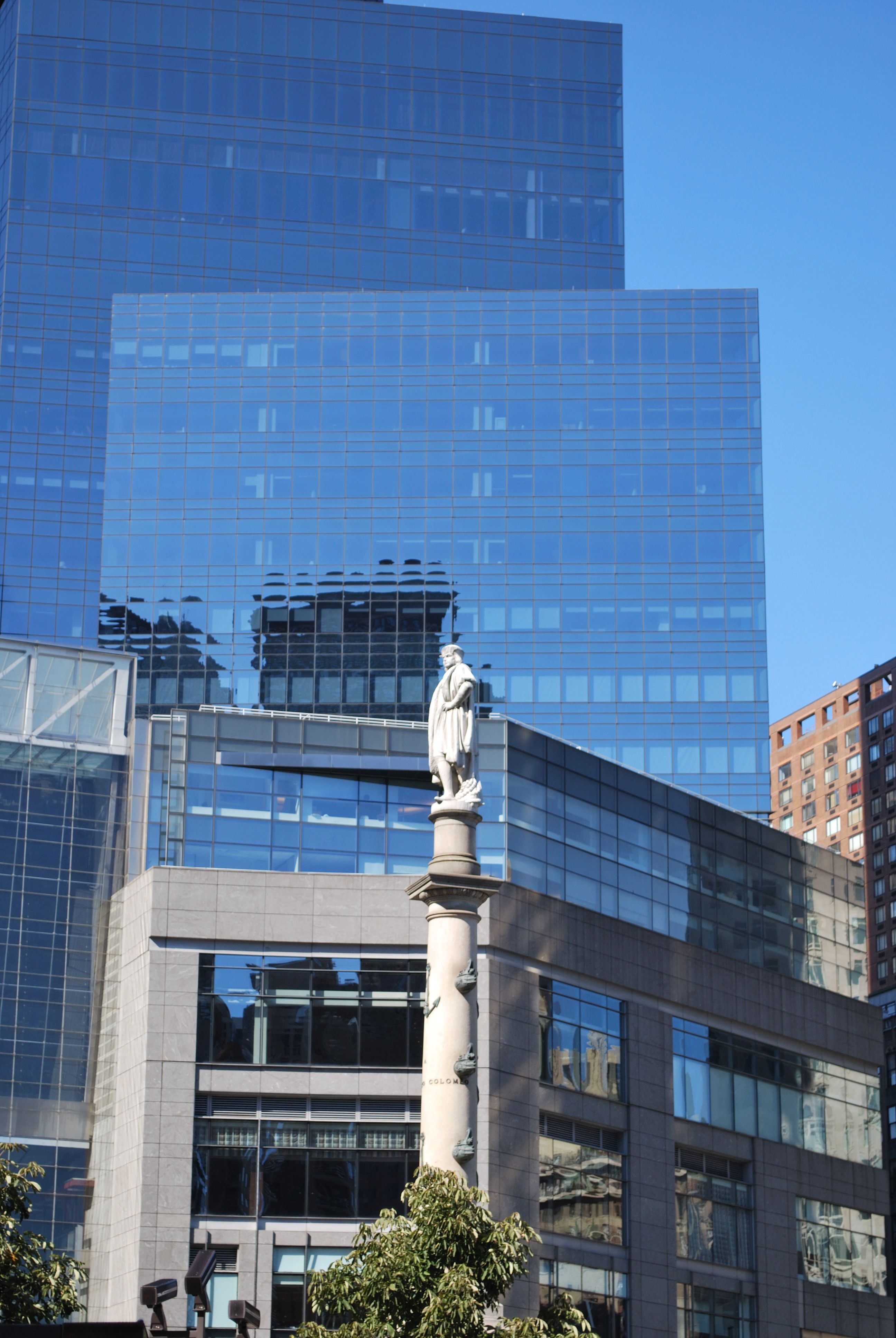 KK All that Glass...watch out for the statue ..NYC