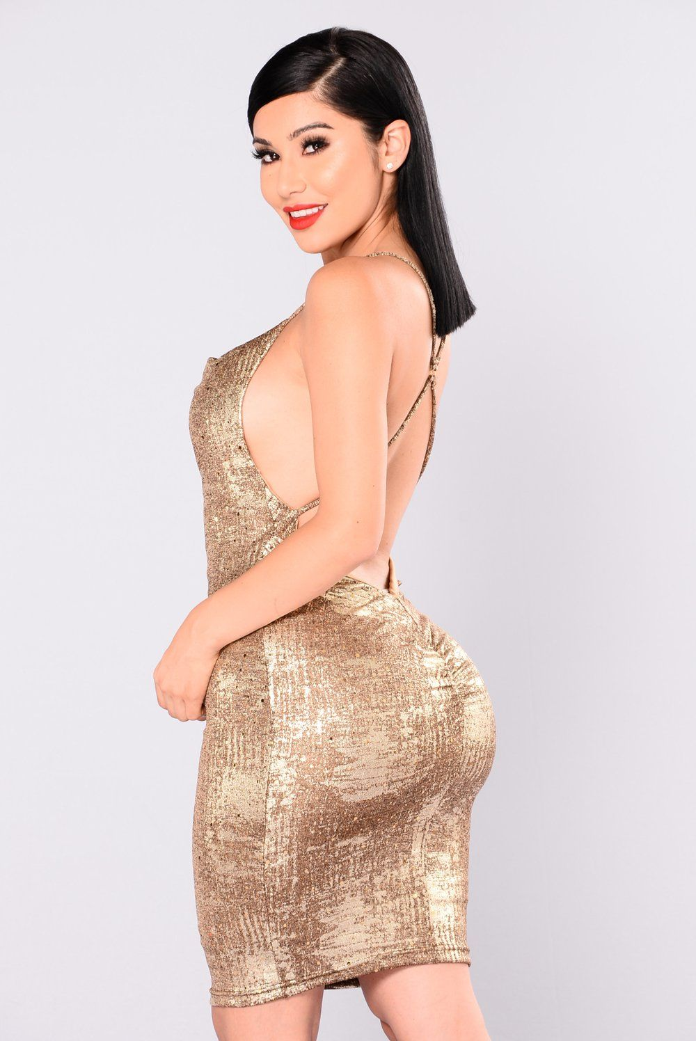 Kelis metallic dress gold metallic gold and curves