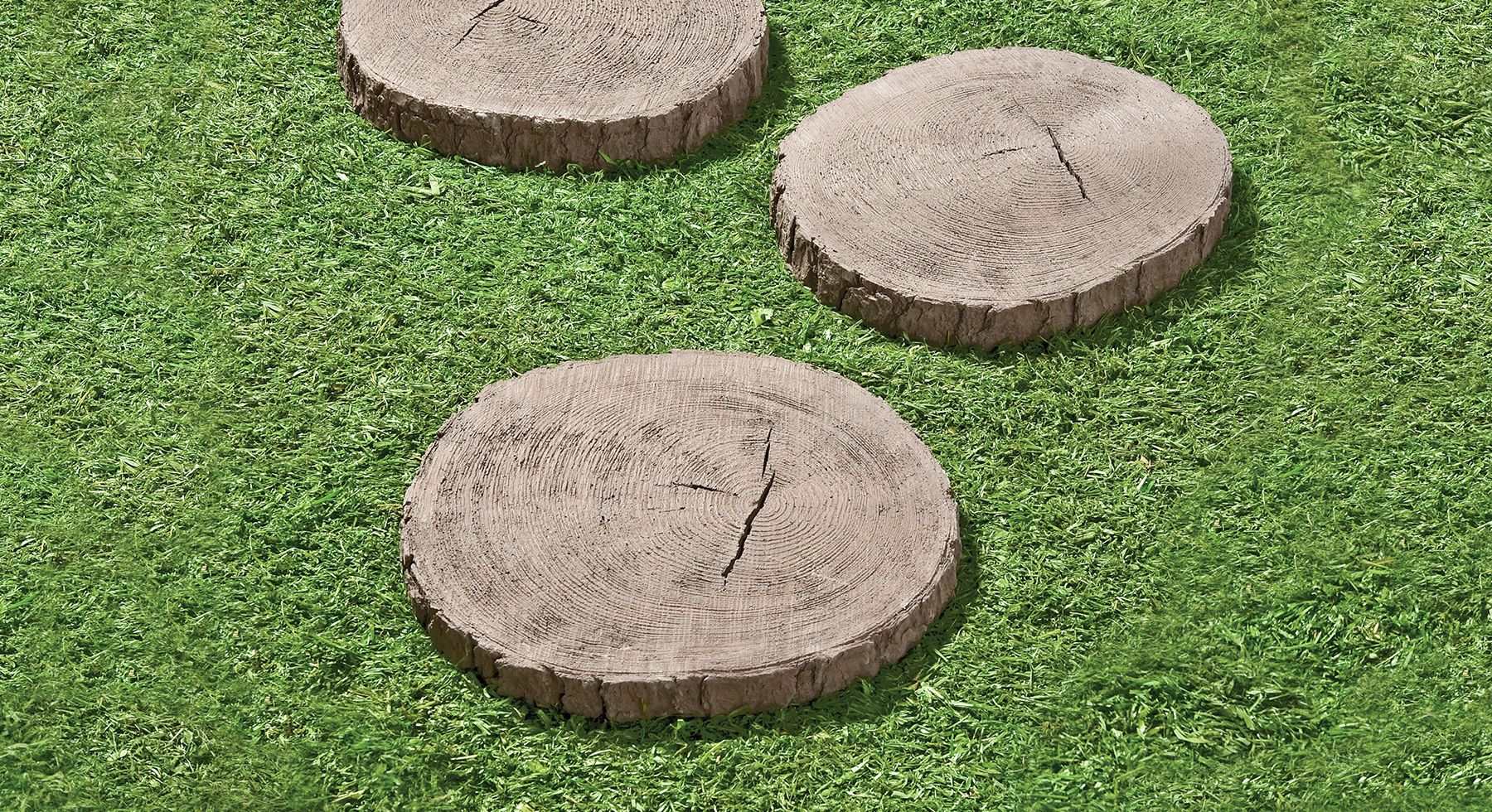 Tree Stump Stepping Stones The Look Of Real Wood