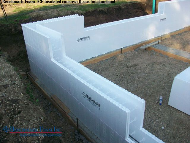 Benchmark foam expanded polystyrene eps foam for Insulated concrete forms basement