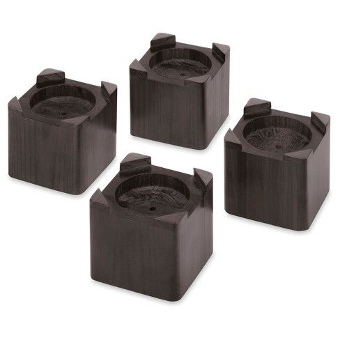 Best Whitmor Set Of 4 Wood Bed Risers Espresso Bed Risers 640 x 480