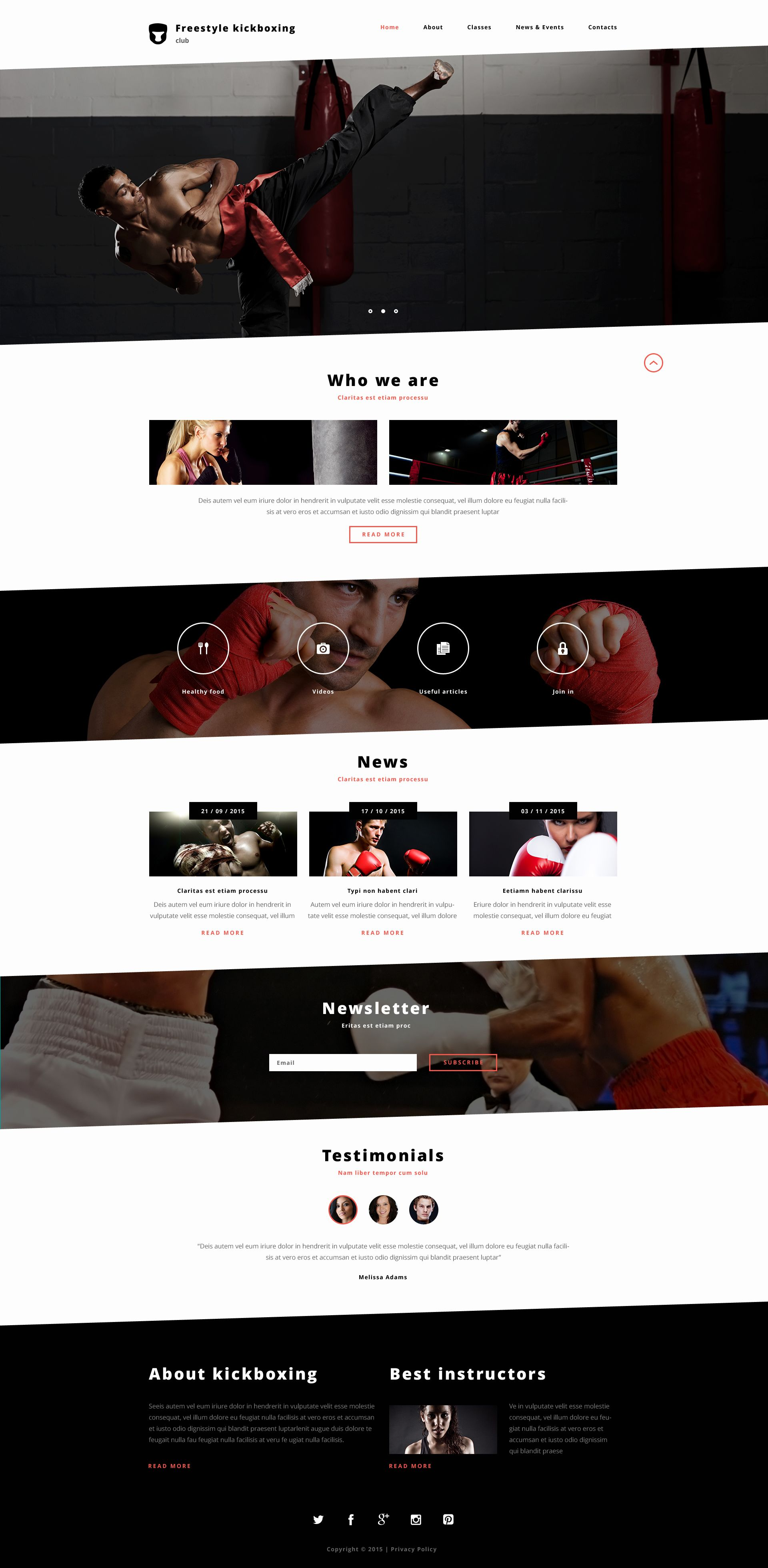 Website Template Boxing
