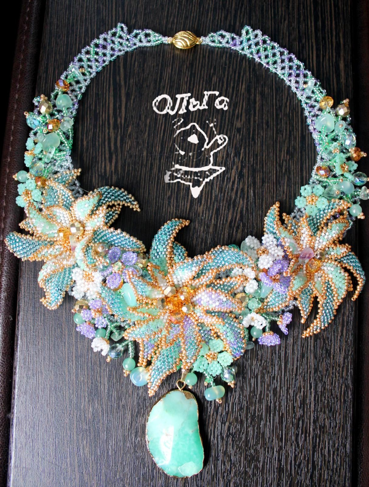 """Necklace """"Chalcedony"""" 