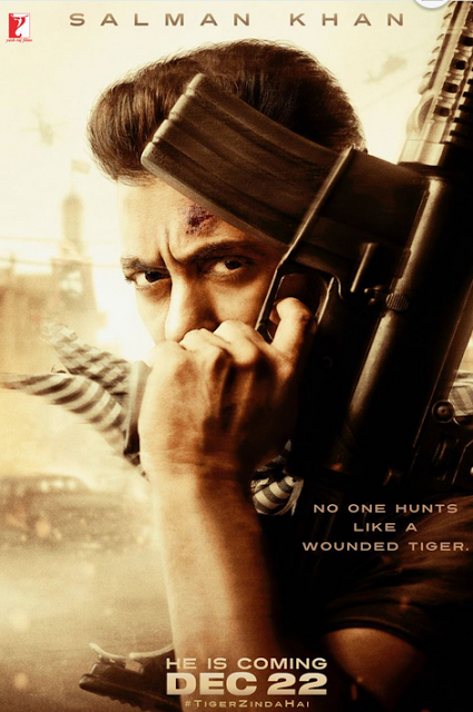 release big this christmas on december tiger zinda hai first poster sneak peek of salman khans killer look is the perfect diwali gift for his fans - The Christmas Gift Movie Cast