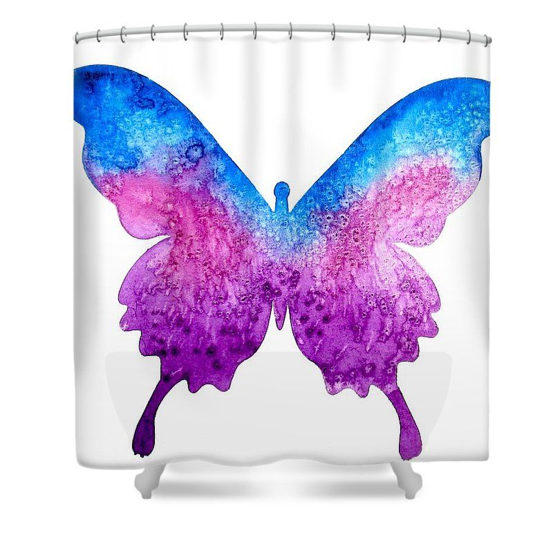 Purple And Blue Butterfly Shower Curtain For Sale By Carol
