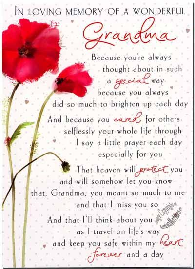 in loving memory grandmother poems in loving memory poems for