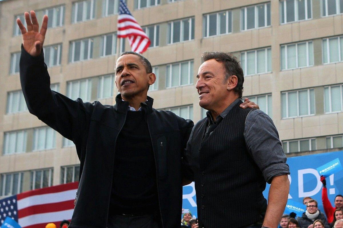 Bruce Springsteen og Barack Obama