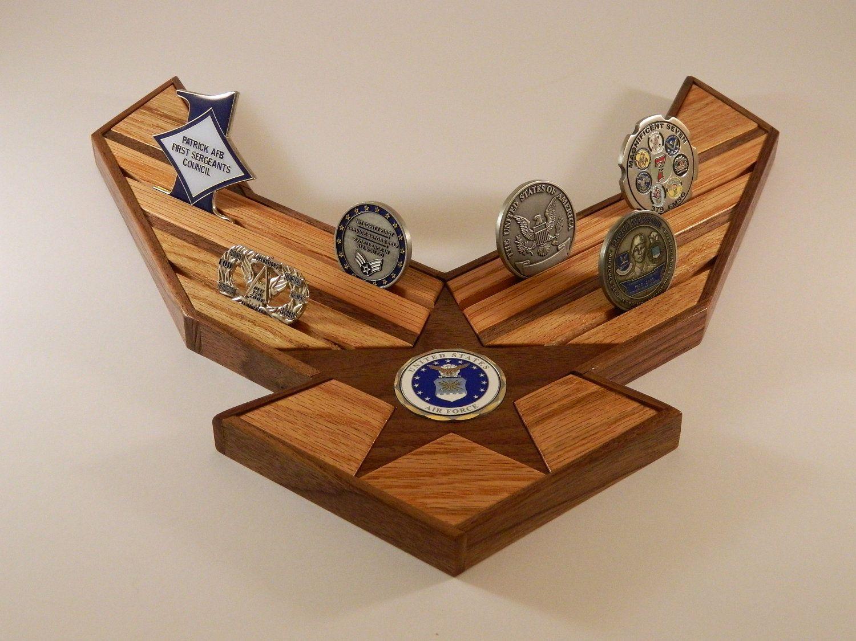Air Force Challenge Coin Holder. 79.99, via Etsy. USAF