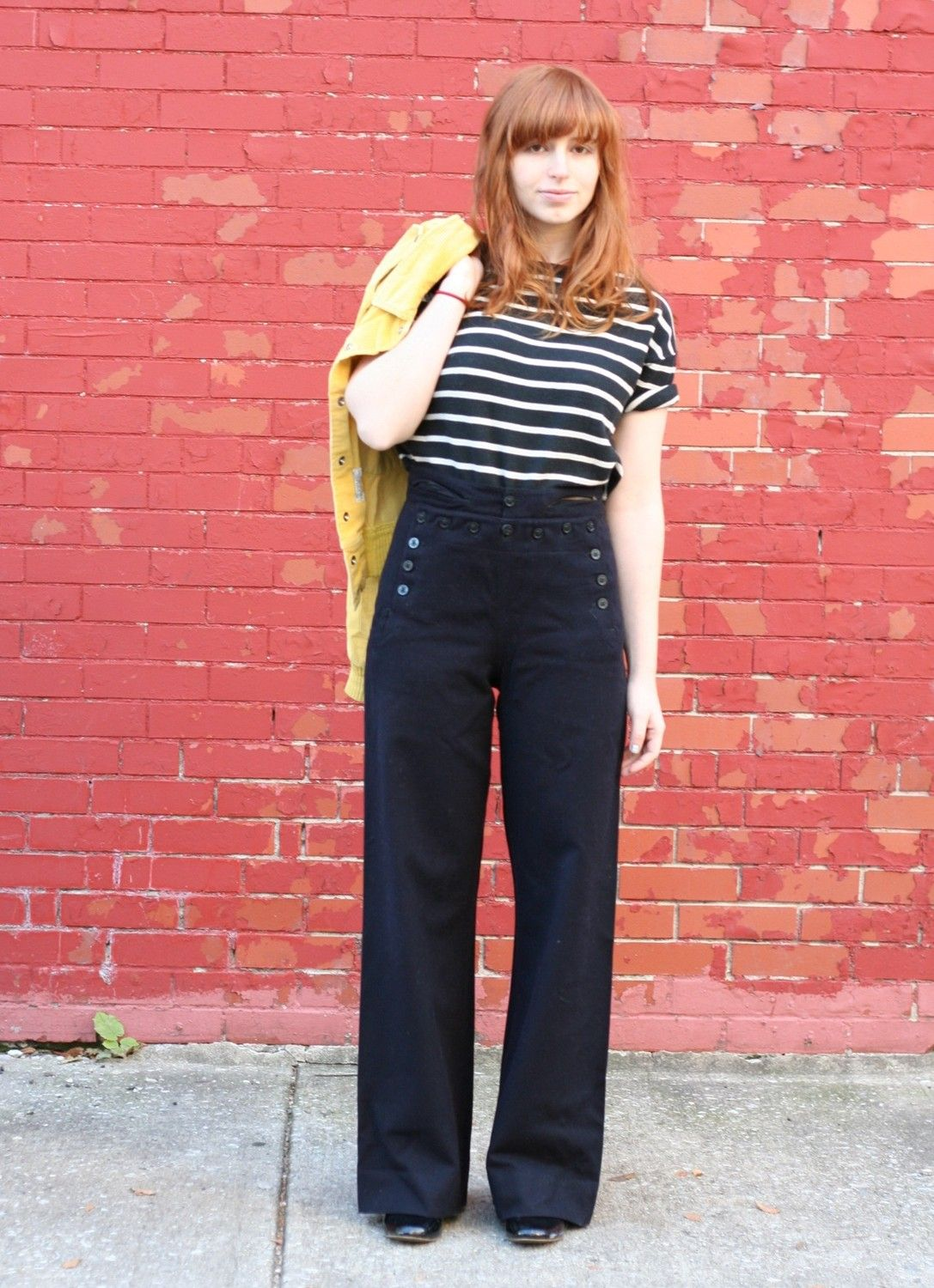 Vintage 40s Wool Navy Sailor Pants S M i need these