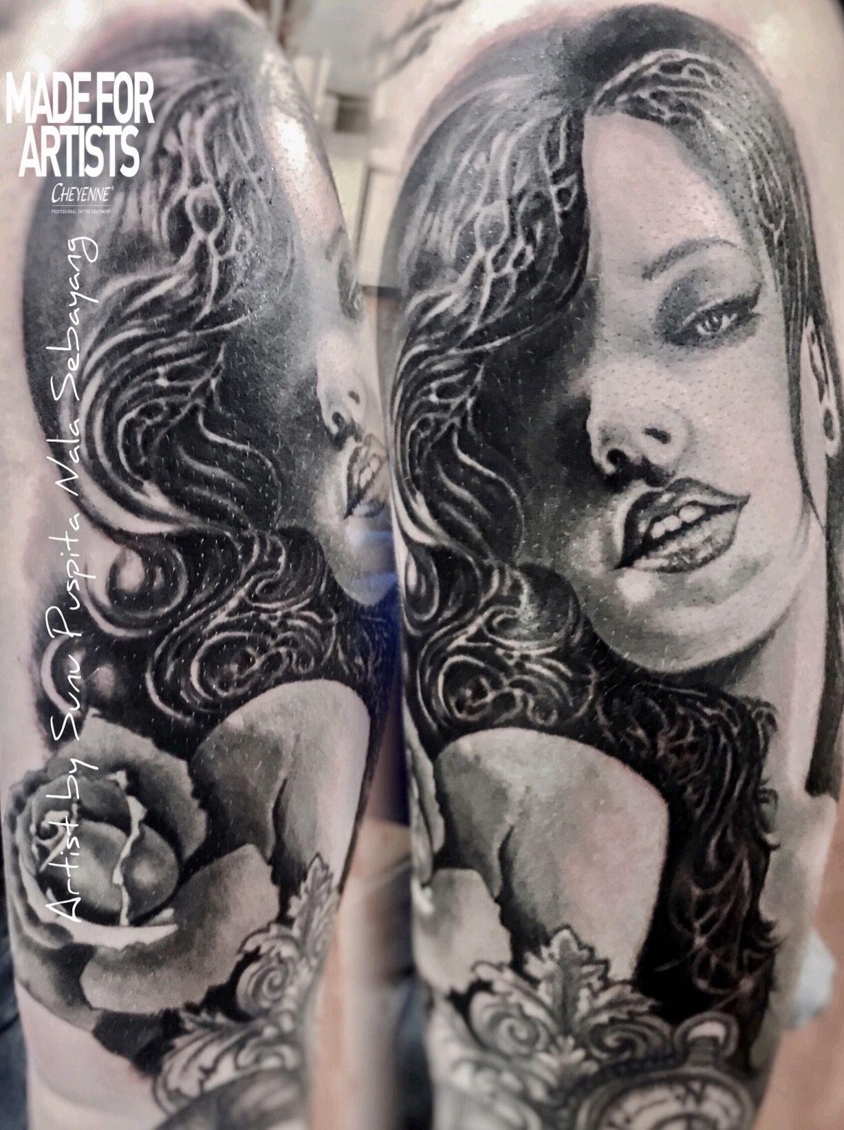 Portrait tattoo artist by sunu puspita nala sebayang inked pinterest