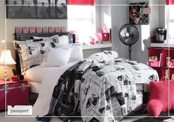 Passport bedding Bed Bath and Beyond Dorm room, College