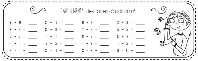 CM1-CM2 : Calcul mental avec livret mémo pour conserver ...