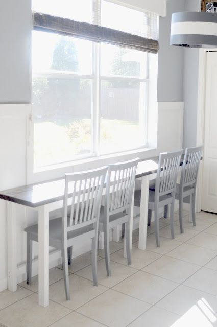 New This table can be pulled apart into two and pushed up against the wall for space or left in the middle for dining table Fresh - Inspirational kitchen table against wall HD
