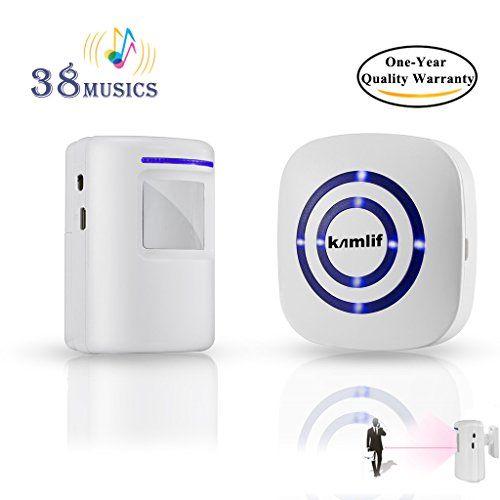 Wireless Home Security Driveway AlarmKamlif Entry Alert ...