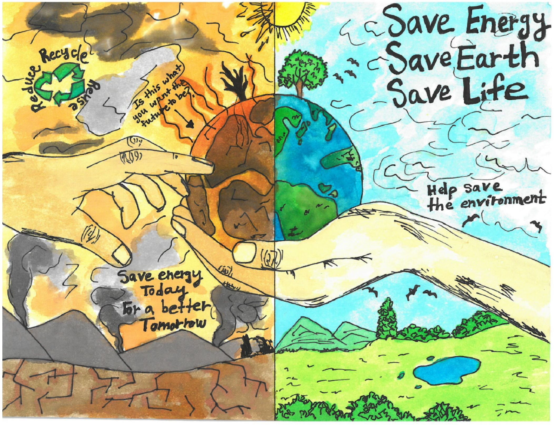 Pin by Mahendran on cv Earth drawings, Save water poster