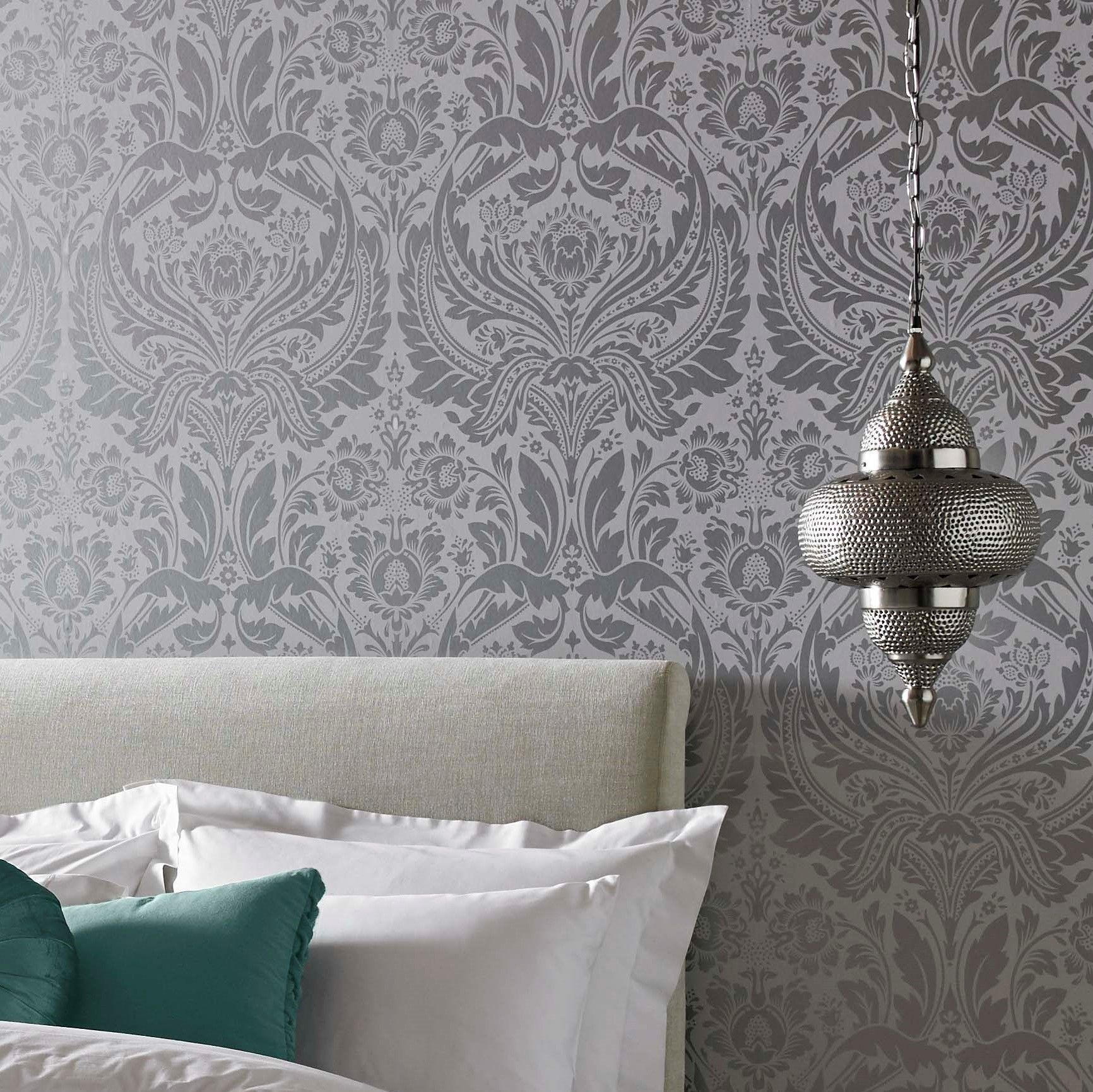 Create A French Inspired Room With Vintage Wallpaper Graham Brown Uk Silver Wallpaper Silver Wallpaper Metallic Room Inspiration